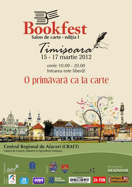 Bookfest la Timisoara intre 15 si 17 martie 2012!