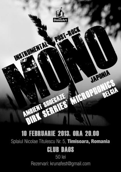 Mono in concert la Timisoara in Daos
