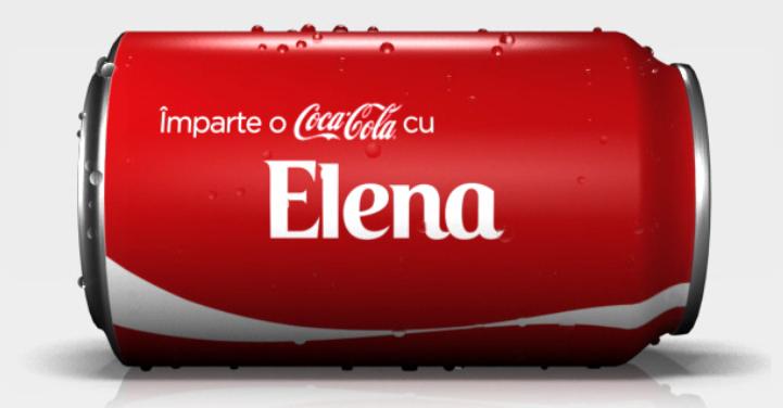De ce ai vrea o sticlă de Coca-Cola cu numele tău?