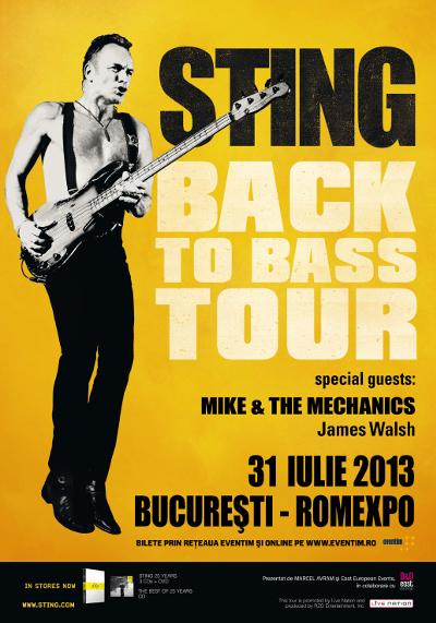 Sting, un englez la Romexpo – București