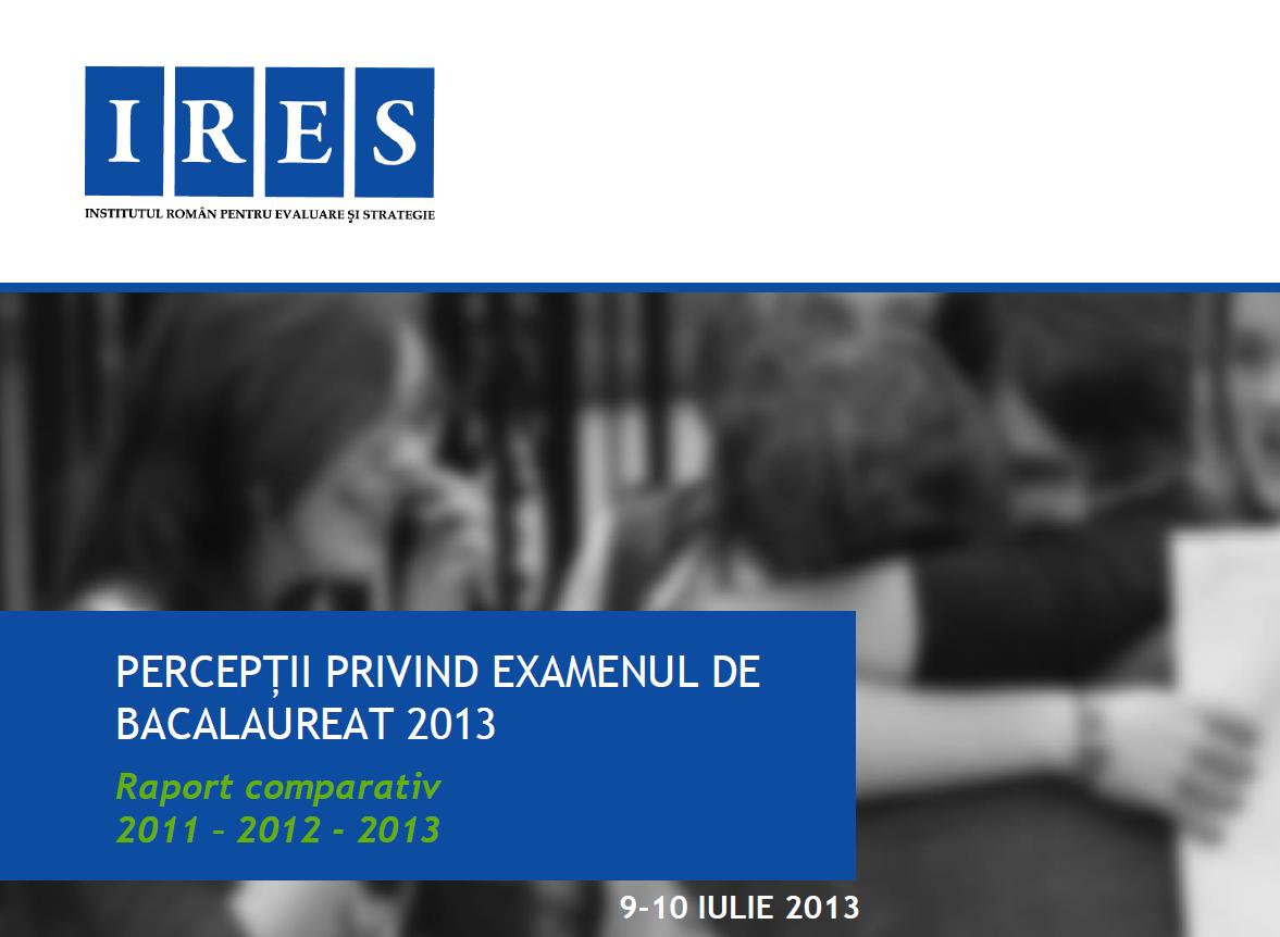 Românii și Bac-ul (analiză sondaj IRES)