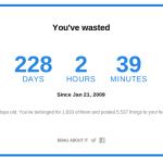 Tu cât timp ai irosit pe facebook?