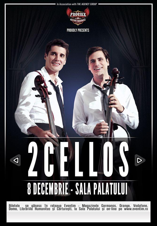 2Cellos – concert în premieră la Sala Palatului