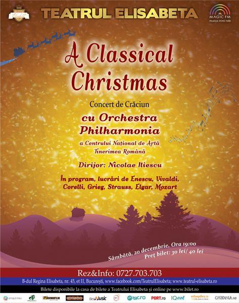 """A Classical Christmas"" cu Orchestra Philharmonia"
