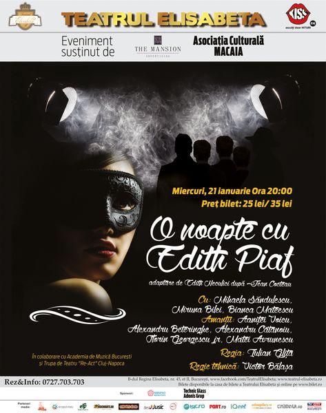 O Noapte cu Edith Piaf – Cocteau la Teatrul Elisabeta