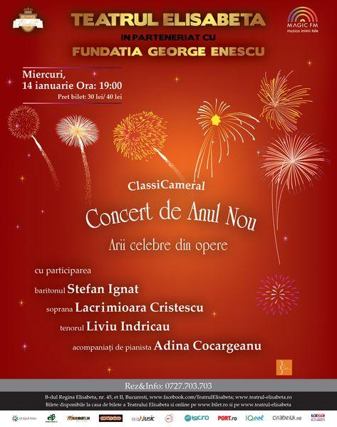 ClassiCameral – Concert de Anul Nou la Teatrul Elisabeta