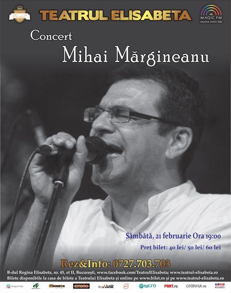 Concert Mihai Margineanu la Teatrul Elisabeta