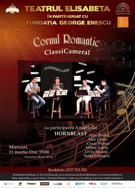 Concert – HornBlast – Cornul Romantic in cadrul stagiunii ClassiCameral