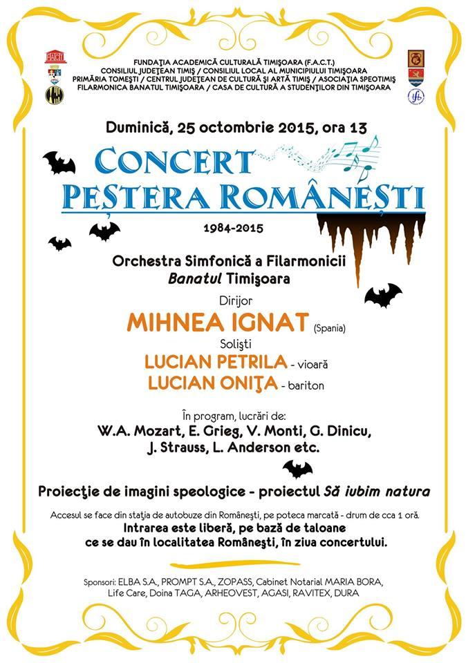 Concertul de la Peştera Româneşti 2015