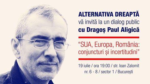 Cultura dialogului cu Dragoş Paul Aligică la Alternativa Dreaptă